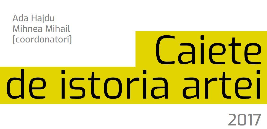 Caiete de istoria artei: primul volum este disponibil online